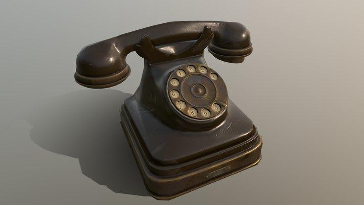 Retro telephone 3D Model