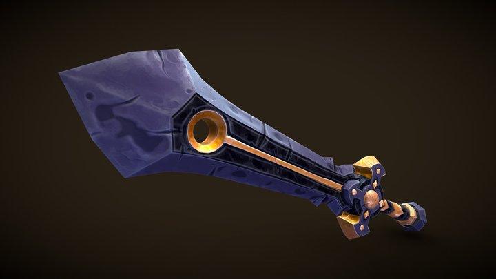 Stylized Obsidian Sword 3D Model