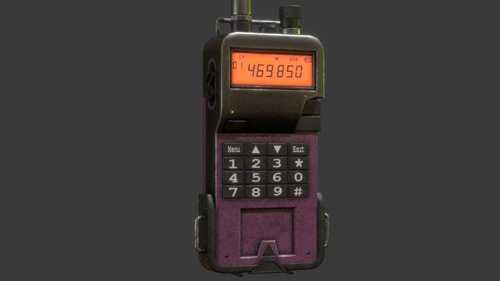 Rádio transmissor 3D Model