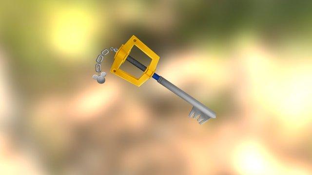 Lowpoly Keyblade 3D Model