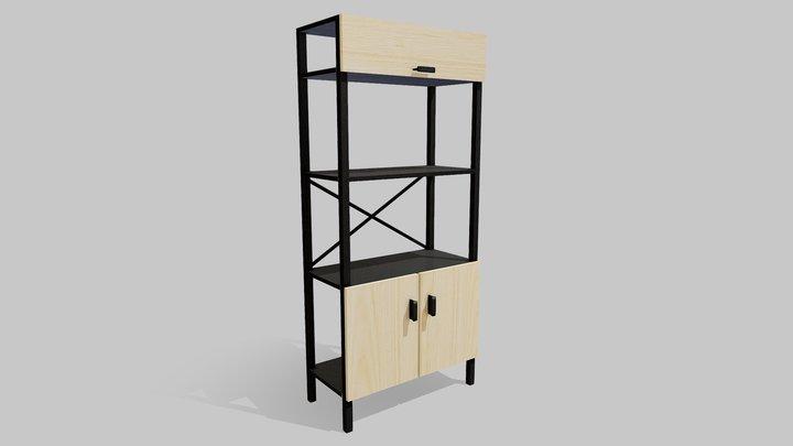Ikea BROR shelving unit modification 3D Model