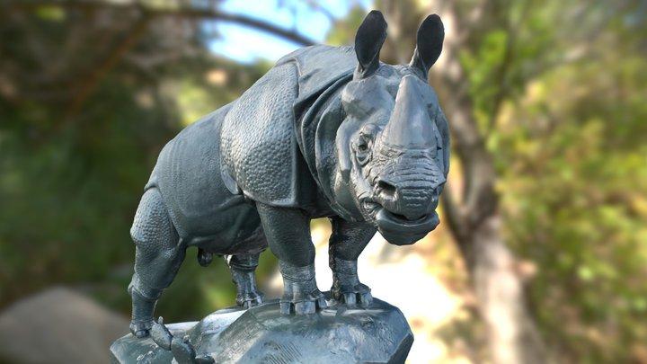 Rhinocéros in Orsay museum, Paris 3D Model