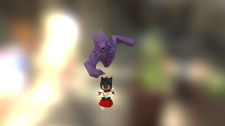 Little Red and Big Bad Wolf Spirit 3D Model
