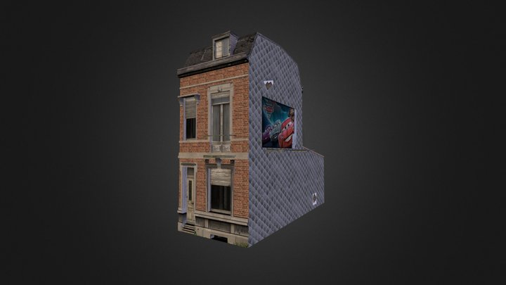 House With Tileable Textures 3D Model