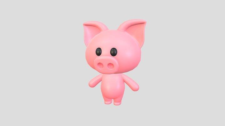 Character010 Pig 3D Model