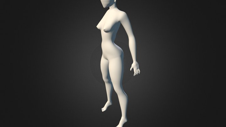 Female body (Without face). 3D Model