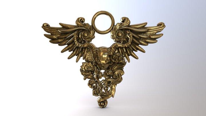 Winged Skull 3D Model