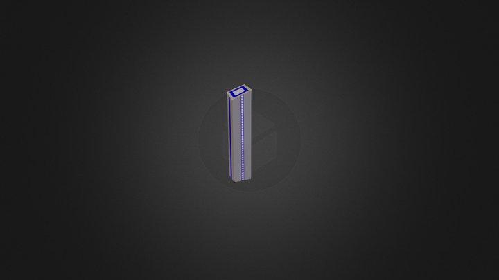 immeuble long carré.dae 3D Model