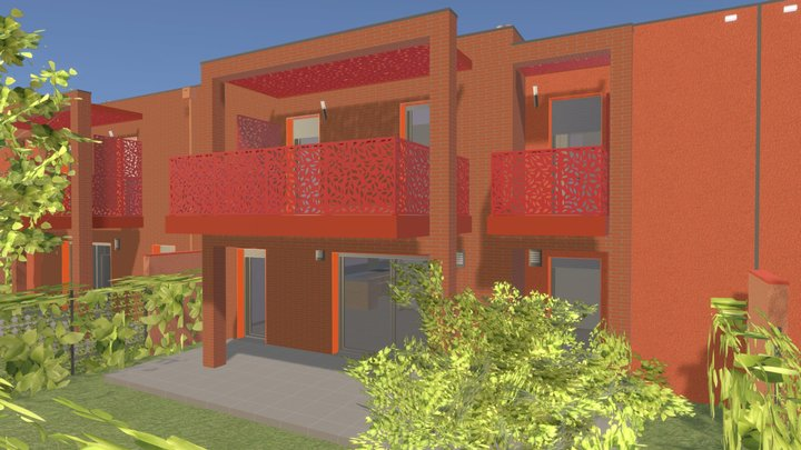 Toulouse houses 3D Model
