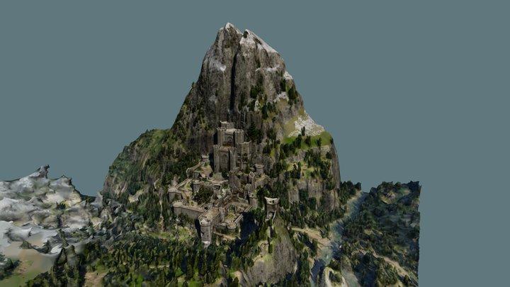 Witcher 3 Kaer Morhen battle 3D Model
