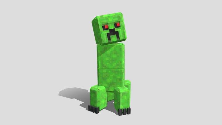 HD Creeper [ Minecraft Bedrock Edition ] 3D Model