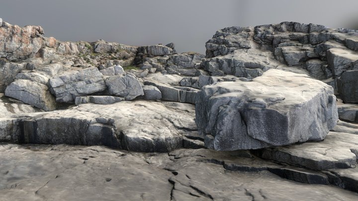 Davia Rocks 3D Model