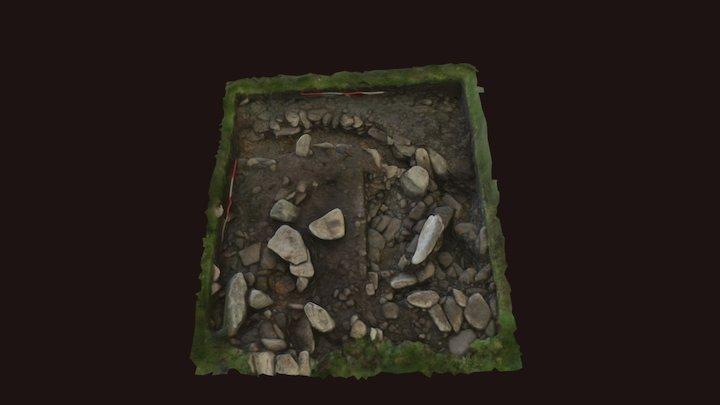 """Cromlech Tumulus"" MBA Roundhouse 3D Model"
