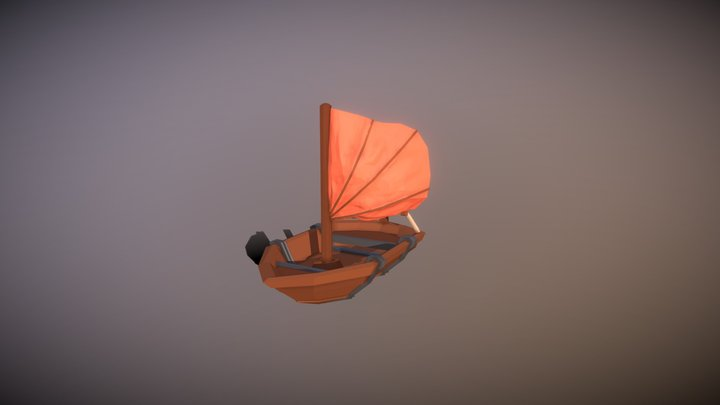 Low Poly Sailing Boat 3D Model