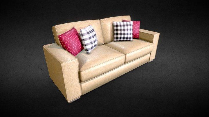 Sofa de Couro 3D Model
