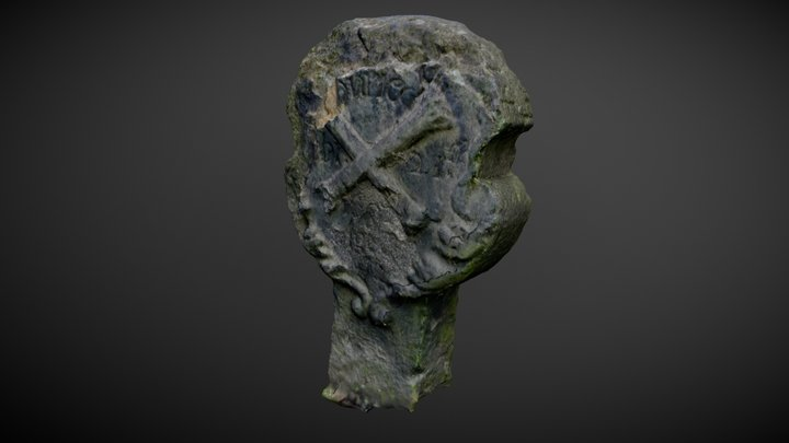 Durham Cathedral graveyard: 17th Century grave 3D Model