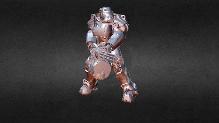 170320 - Fallout 4 силовая броня 7T60 3D Model