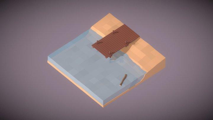 Praia 3D Model
