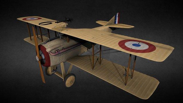 Spad VII 3D Model