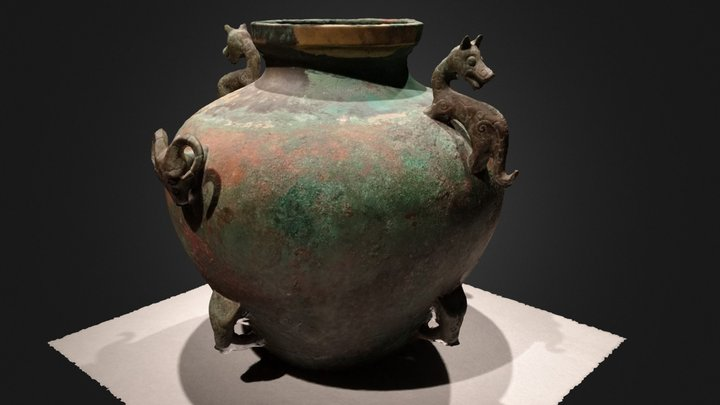 Wine Vessel with Inscription, 273 BC 3D Model