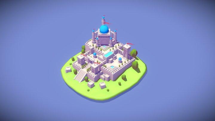 Castle On Hills 3D Model