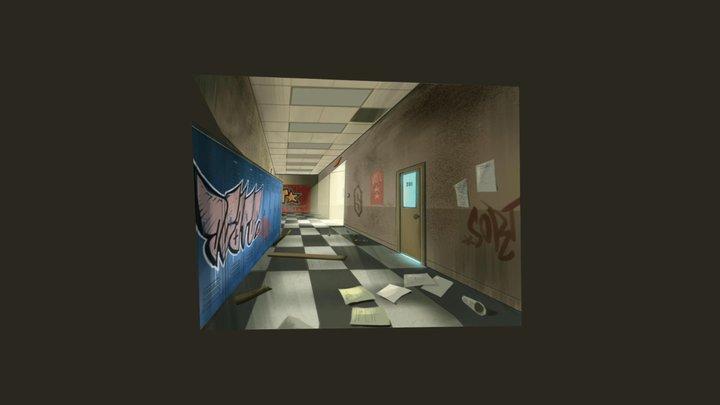 Jim's Hallway painting. 3D Model