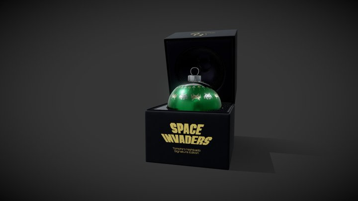 Space Invaders Bauble 3D Model