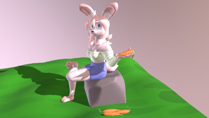 Art trade with AbbiBunBun on Twitter 3D Model