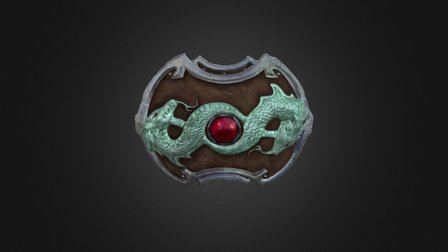 Double Dragon Shield 3D Model