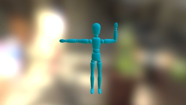 A slapping doll 3D Model