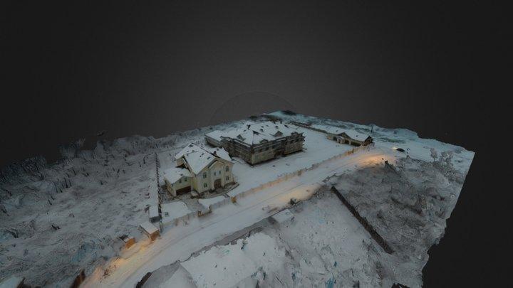 Новые дома в коттеджном поселке Картмазово 3D Model