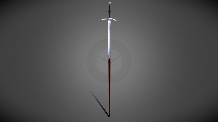 One hand and a half german sword 3D Model