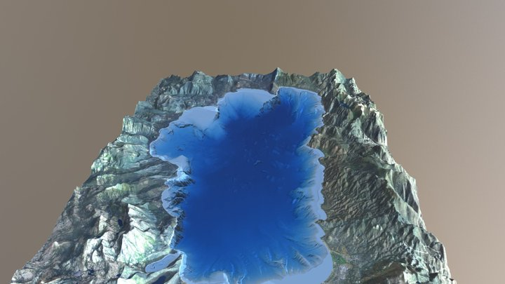 Lake Tahoe Bathymetry Surface (1:150,000 Scale) 3D Model