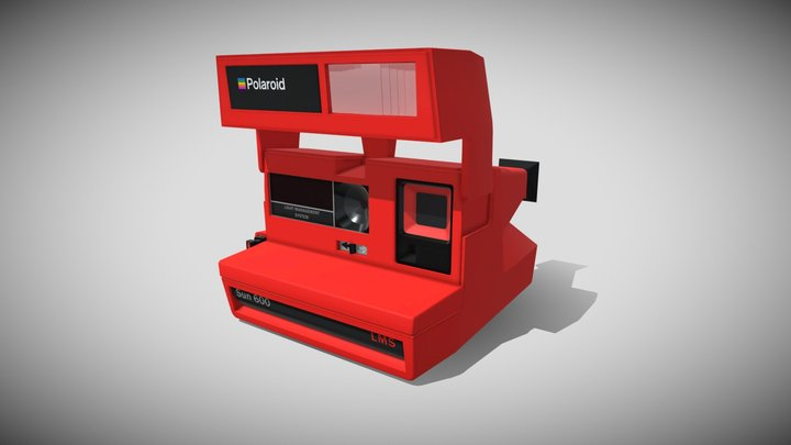 Polaroid Sun 600 LMS Lowpoly 3D Model