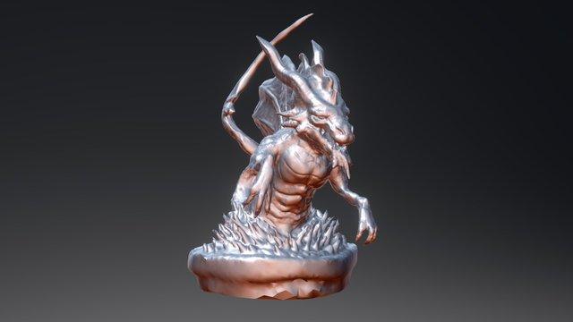 Water Dragon Sculpt for 3d Printing 3D Model