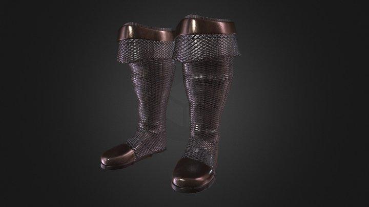 Medieval Boots 3D Model
