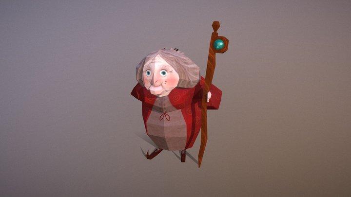 Old Woman 3D Model