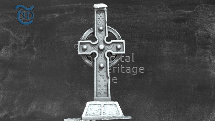 TS079-007003- Ahenny High Cross 2. 3D Model