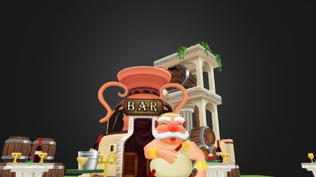 Greek Happy BAR 3D Model