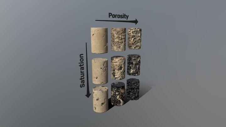 Porosity VS Permeability 3D Model