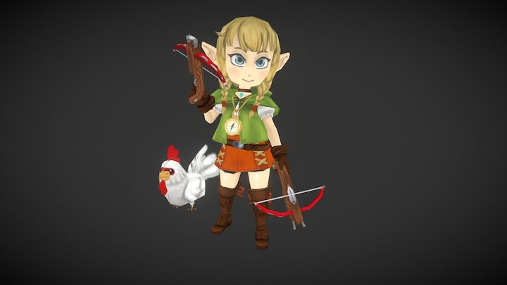 Low poly Linkle 3D Model