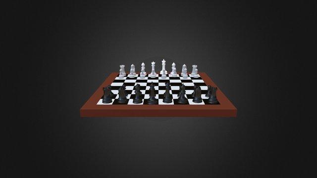 Chess Scene v1.5 3D Model