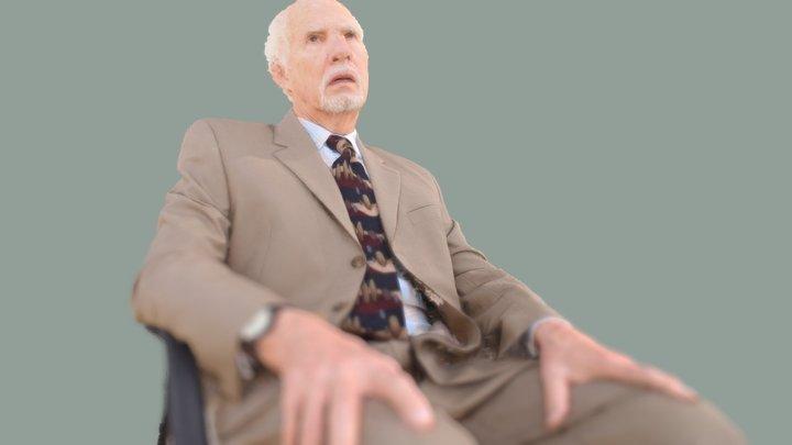Todd Slaughter, Sitting Pose 1 Crop 3D Model