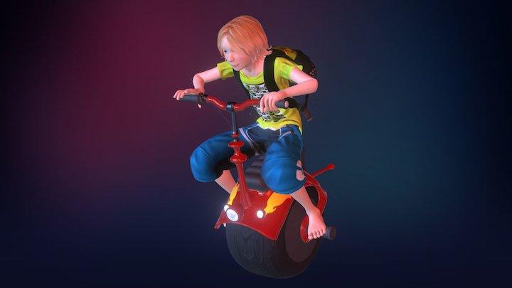 Loki's Mono Bike 3D Model