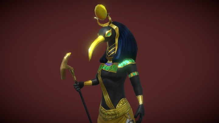 Thoth Boss - Handpainted Lowpoly 3D Model