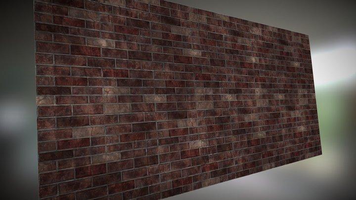 Brick Wall Test 3D Model