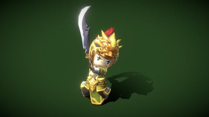Three kingdoms - Additional Hero Samsibil 3D Model