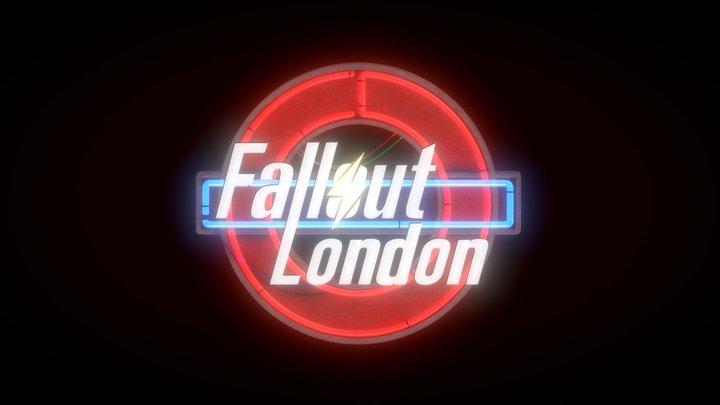 Fallout London Logo 3D Model