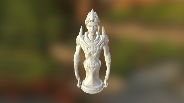 3D Printing Philospher With Support 3D Model
