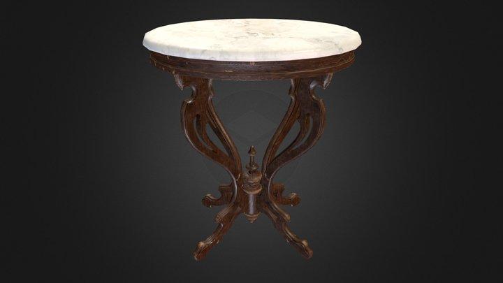 Antique Pedestal Table 001 (Low Poly) V1 3D Model